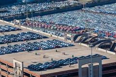 New Cars Terminal Export Air Photo Stock Image