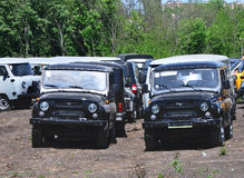 New cars UAZ Hunter black Royalty Free Stock Photos