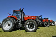 New Case IH tractors on display Stock Image