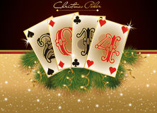 New 2014 casino year card with poker elements Royalty Free Stock Images