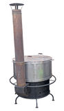 A new cast iron wood stove burning hot Royalty Free Stock Photography