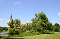 New castle in Bad Muskau Stock Photography