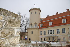 New castle in Cesis.  It ws built in 18th century.  Now it houses History and Art Museum of Cesis. Stock Photos