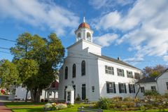 New Castle Congregational Church in NH, USA. New Castle Congregational Church on Main Street in New Castle, New Hampshire, USA royalty free stock photo