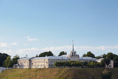 New castle in Grodno Belarus. Under summer sky Royalty Free Stock Photography