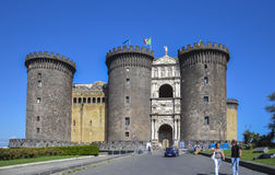 The New Castle (House of Anjou) in Naples, Italy Stock Images