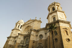 New Cathedral on Cadiz. Royalty Free Stock Photos