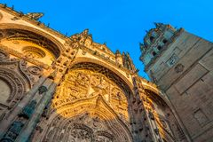 New cathedral or Catedral Nueva in Salamanca, Spain.  Stock Photography