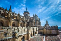New cathedral or Catedral Nueva in Salamanca, Spain.  Royalty Free Stock Photography