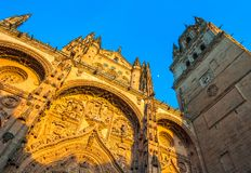 New cathedral or Catedral Nueva in Salamanca, Spain Royalty Free Stock Image