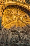 New cathedral or Catedral Nueva in Salamanca, Spain.  Stock Images