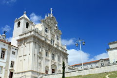 The New Cathedral, Coimbra. The New Cathedral ( Se Nova ) in Coimbra, Portugal royalty free stock images