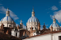 New Cathedral of Cuenca. With blue sky background Stock Photography