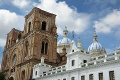 The New Cathedral in Cuenca Ecuador royalty free stock images