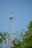 New cell phone towers blue sky background. Stock Photos