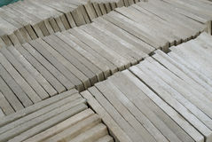 New cement building slabs Stock Photo