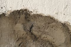 New cement on the old wall. Grunge texture background Royalty Free Stock Photography