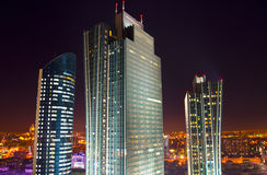 New center of the city in Astana. Night color lights of New center of the city in Astana Royalty Free Stock Photography