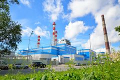 New Central thermoelectric power plant on Rybinskaya street Stock Photography