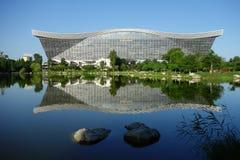 New Century Global Center, Chengdu, Sichuan, China against blue skies Stock Image