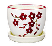New ceramic flower pot Royalty Free Stock Photography