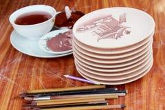 New ceramics and glazes Stock Photo