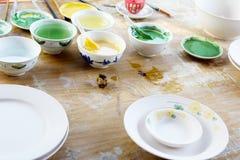 New ceramics and glazes Stock Photos