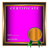 New certificate Royalty Free Stock Photos
