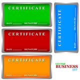 Certificates set Royalty Free Stock Images