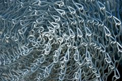New Chain Link Fencing Material in Roll Stock Photos