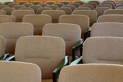 New chairs. In concert hall Stock Photos