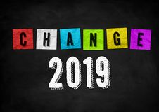 New Changes in 2019 royalty free stock photos