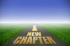 New chapter gold road Royalty Free Stock Photo