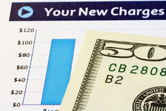 New Charges Chart with U.S. Dollars Royalty Free Stock Images