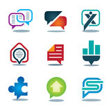 New chat conversation message icon set of youth social network Stock Image