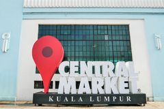A new check-in icon of Central Market.Central Market is a cultural heritage site with restored art deco facade offering shopping a. Kuala Lumpur, Malaysia royalty free stock photography