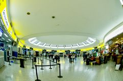 New check-in in Vienna airport Royalty Free Stock Images