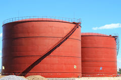 New chemical storage tank Stock Image