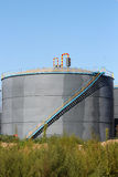 New chemical storage tank Royalty Free Stock Photo