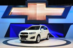 New Chevrolet Captive 2.0 Litre on display Stock Photography