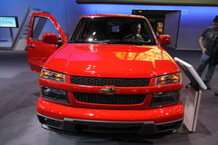 New Chevrolet Colorado 2011. Chevrolet exposition at Chicago auto show 2011 Royalty Free Stock Photo