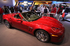 New Chevrolet Corvette 2011. Chevrolet exposition at Chicago auto show 2011 Royalty Free Stock Photography