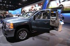 New Chevrolet Silverado HD. Chevrolet exposition at Chicago auto show 2011 Stock Photography