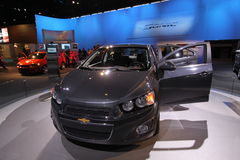 New Chevrolet Sonic 2012. Chevrolet exposition at Chicago auto show 2011 Stock Images