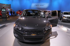 New Chevrolet Sonic 2012. Chevrolet exposition at Chicago auto show 2011 Royalty Free Stock Photo