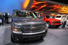 New Chevrolet Tahoe 2011. Chevrolet exposition at Chicago auto show 2011 Royalty Free Stock Images
