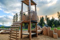 New Children`s playground Royalty Free Stock Images
