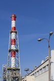 The new chimney built in CHP plant Royalty Free Stock Image