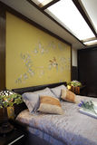 New Chinese style home bedroom Stock Images