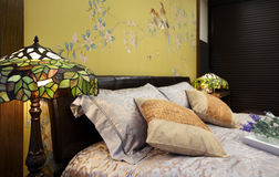 New Chinese style home bedroom Royalty Free Stock Photography